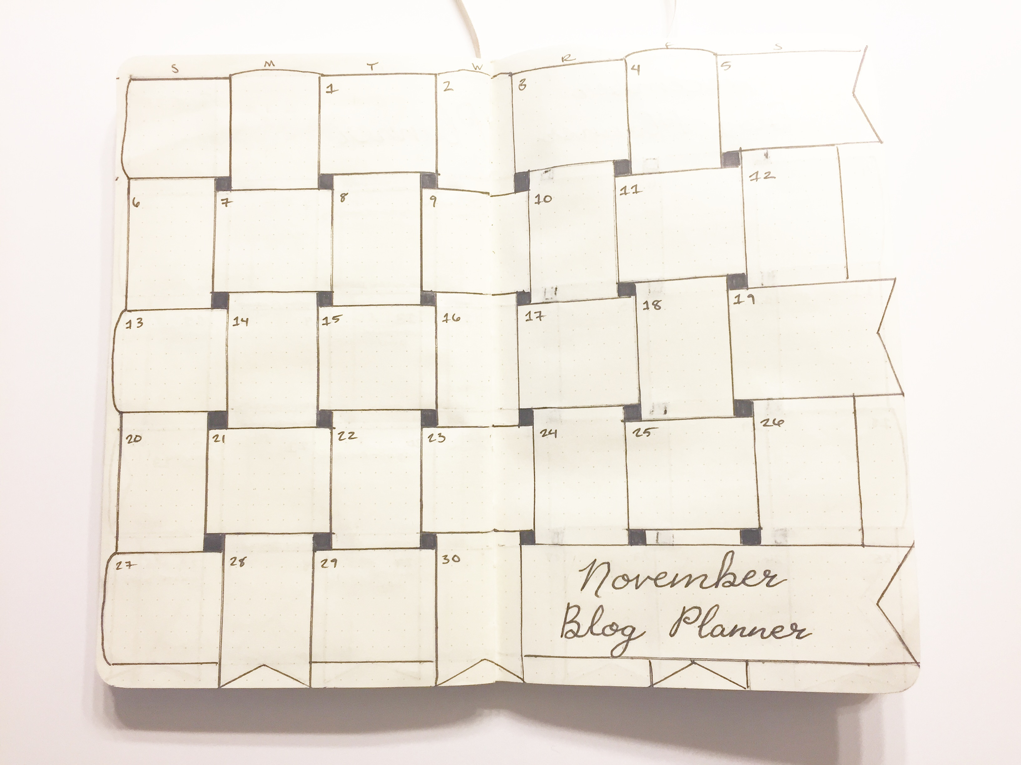 November blog post planner module pic