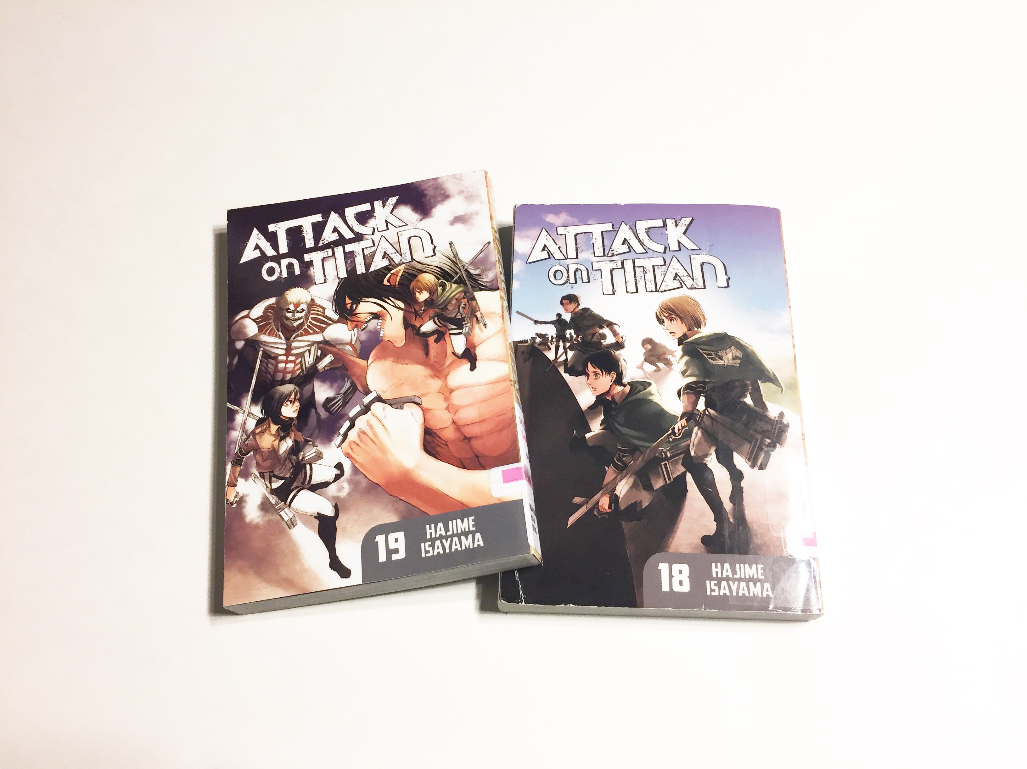Photo of Attack on Titan Volumes 18 and 19 by Hajime Isayama